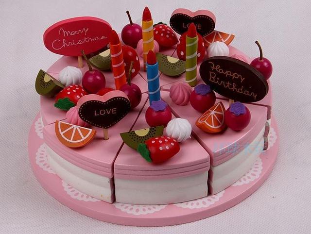 Toys Paradise Mother Garden Christmas Double Layer Fruit Cake