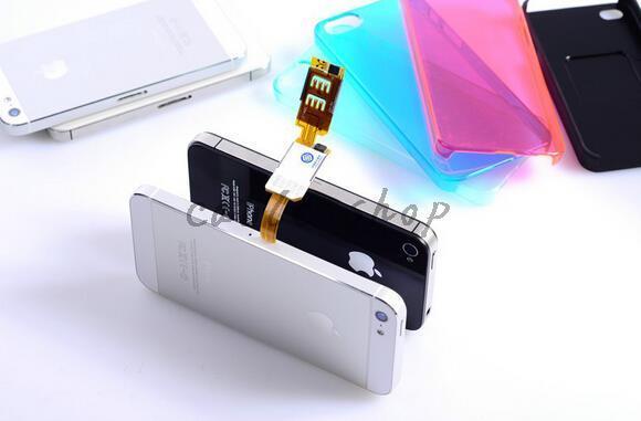 Новая мода Dual 2 sim-карты адаптер устройства для Android для iPhone 5 5S 6 6plus Nano sim-карты адаптер