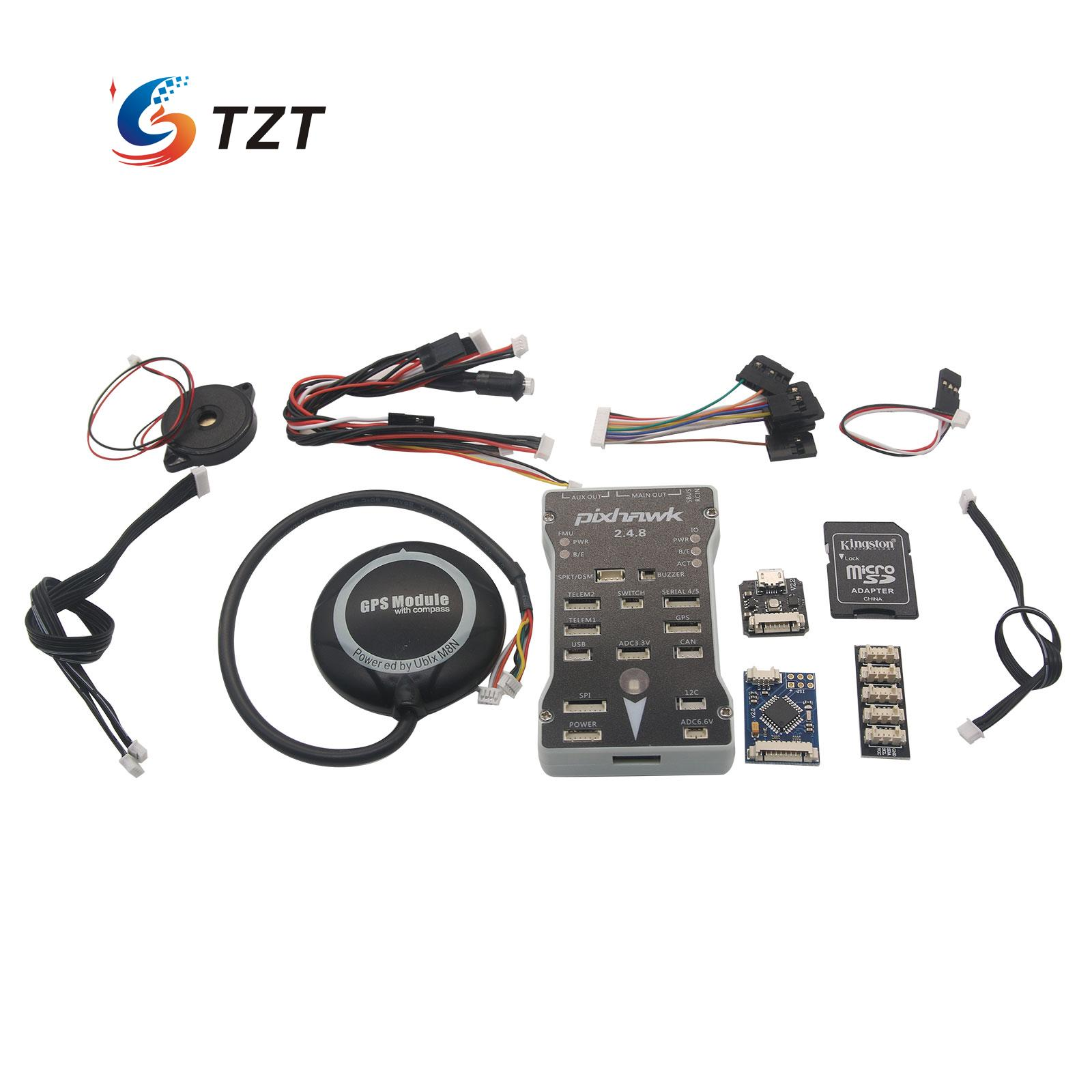 Pixhawk px4 2.4.8 32bit ARM FPV-системы Игровые Джойстики + m8n GPS + PPM кодер и светодиодный индикатор и I2C сплиттер для радиоуправляемый квадрокоптер