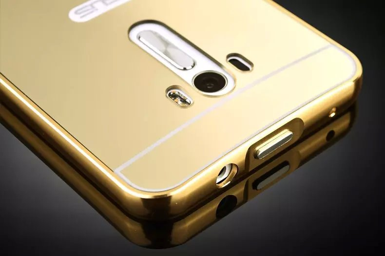 more photos 2664b e9655 US $3.39 |Luxury Metal Aluminum Frame Acrylic Mirror Back Cover Case For  Asus Zenfone 5 Selfie ZD551KL Max ZC550KL ZE551ML ZE500KL ZE550KL-in Phone  ...