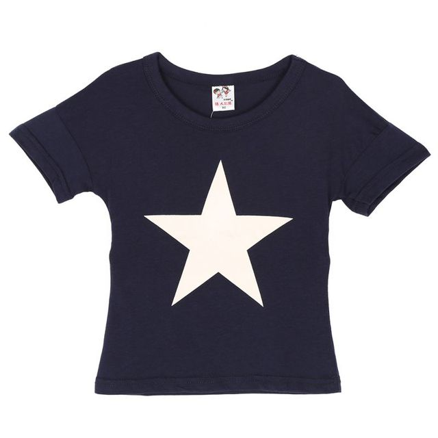 Casual Cotton T-Shirts for Kids with Simple Star Design