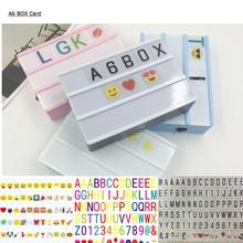 Premuim A6 светильник, коробка, светильник с буквами, комбинированный кинематографический светильник, карточка, светодиодная лампа, светящаяся коробка, сделай сам, Символьные цифры