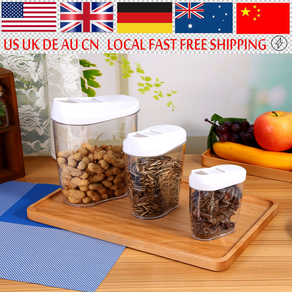 5pcs Plastic Food Containers Dispenser Convenient Storage