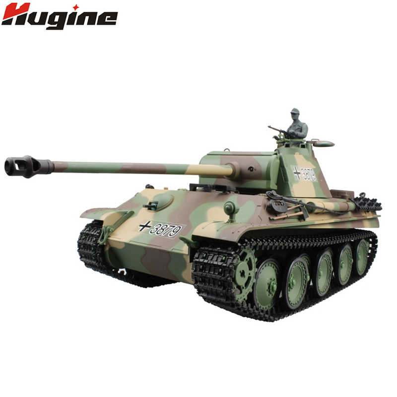 Henglong a RC tanque German Panther Tipo G Battle tanque 2,4G 1/16 Vehículo blindado AirSoft Smok & Sound Effect electrónica Hobby Juguetes