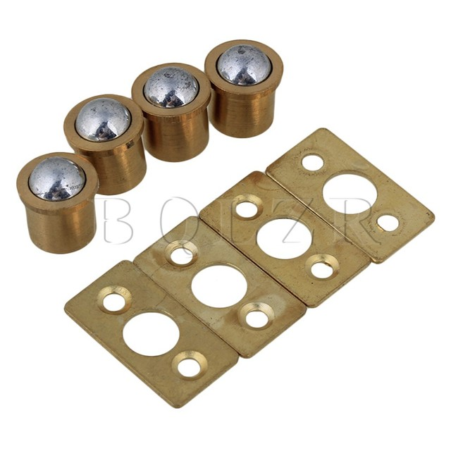 Bqlzr 4 X Gold Brass Ball Catch With Strike Plate For Cabinet Closet