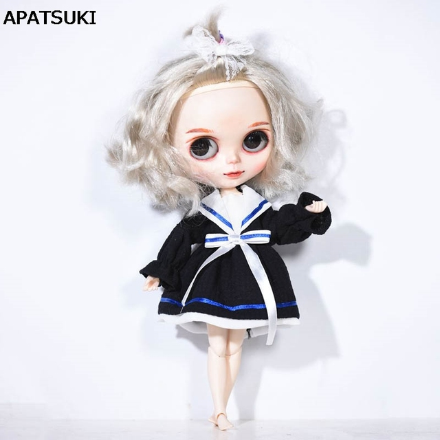 Black Korea Style Bowknot Doll Dress For Blythe Doll Clothes Dress