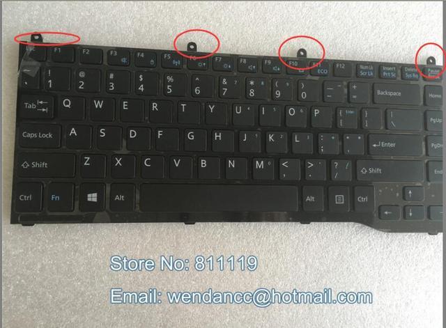 O envio gratuito de teclado EUA Layout para Lifebook LH532 LH522 LH532A LH532B LH532C teclado com trava de Parafuso