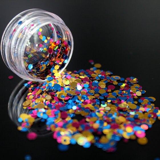 1 коробка блестящие круглые ультратонкие блестки Красочные Блестки для дизайна ногтей УФ гель 3D декоративный Маникюр DIY аксессуары NR234 - Цвет: 11