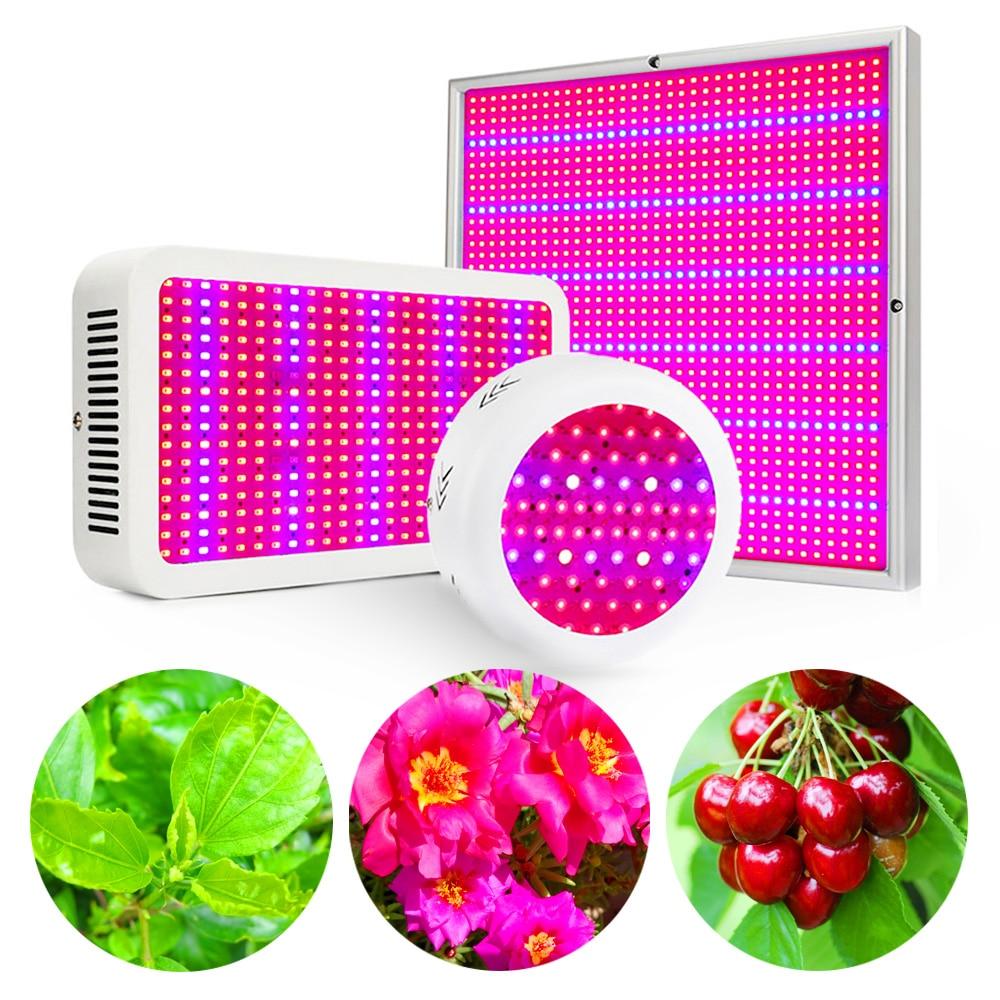 LED crece la luz de espectro completo 120 W 216 W 400 W 600 W 780 W 1200 W crecer caja para cultivo plantas de interior tienda verduras crecer Bloom floración