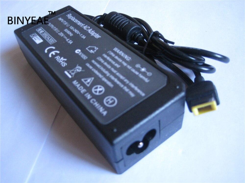 20V 4.5A 90W AC Laptop Power Charger Adapter For Lenovo Thinkpad ADLX90NCC3A ADLX90NLC3A ADLX90NLT3A PA-1900-72 K4350A A36200252 20v 3 25a 4 5a 90w squre usb ac power supply adapter for lenovo thinkpad laptop charger