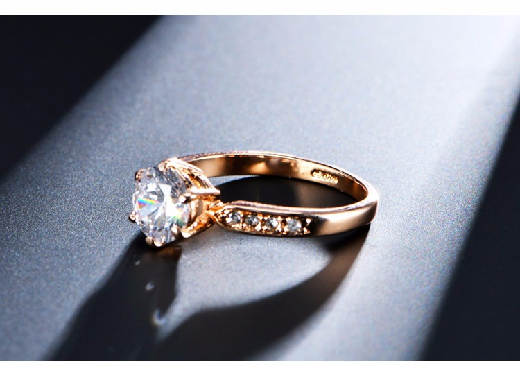 1.75ct AAA Zircon Engagement Rings for women Rose gold color Wedding rings female anel Austrian Crystals Jewelry top quality 4