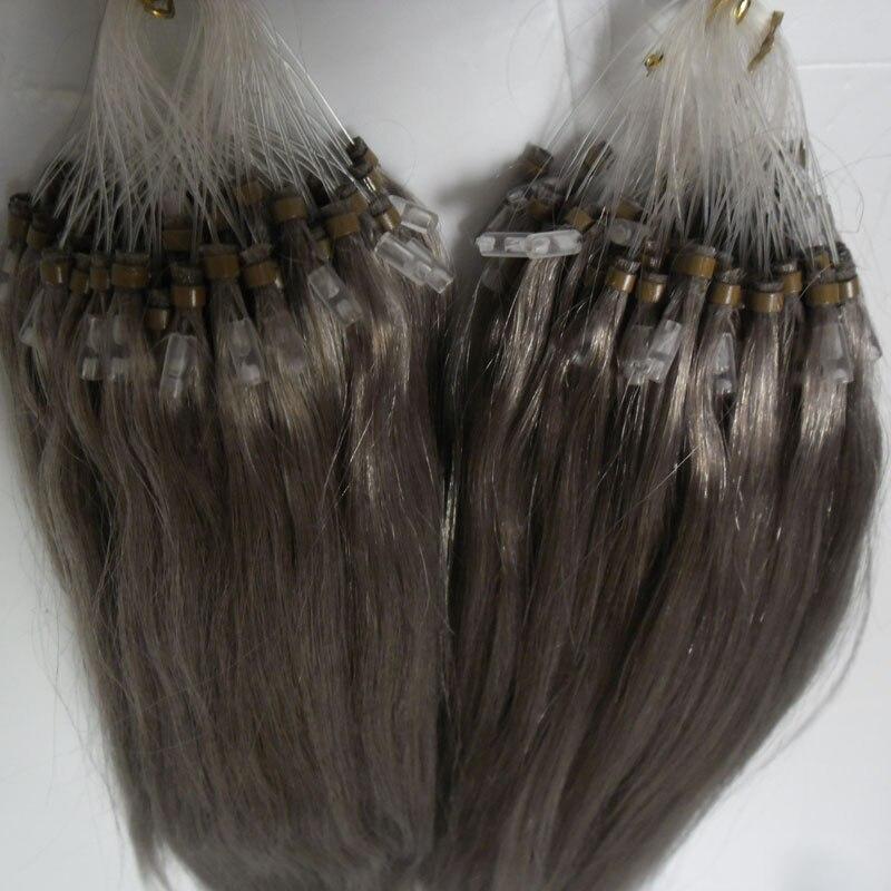 New Silver Grey Micro Loop Hair Extensions 200g Micro Bead Hair
