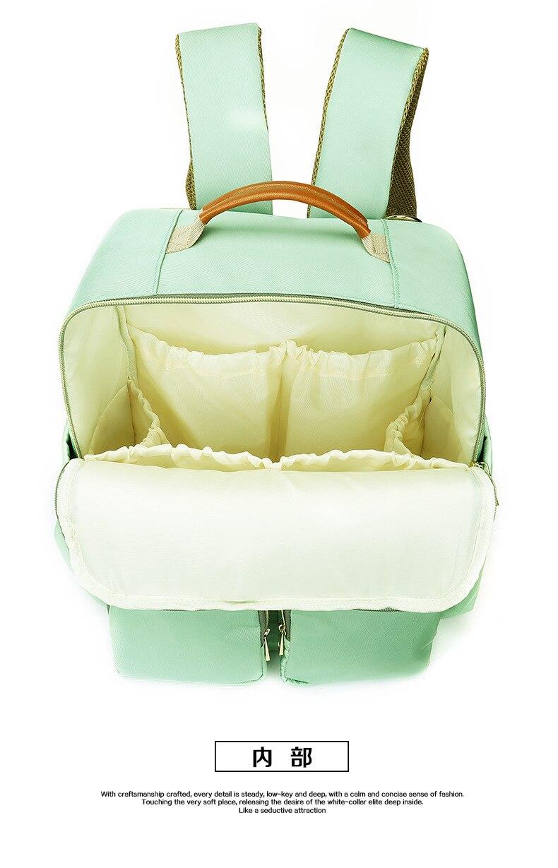 2019 New Baby Diaper Bag Interface Large Capacity Waterproof Nappy Bag Kits Mummy Maternity Travel Backpack Nursing (21)