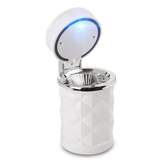 LUOEM автомобильная пепельница Бездымная автомобильный для сигарет Пепельница с синий светодиодный свет для автомобиля держатель стакана светодиодный сигаретного дыма Автомобильная Пепельница