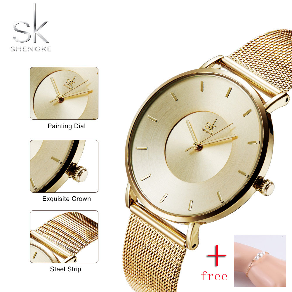 Women Watches 2018 Luxury Brand Gold Wrist Watch Stainless Steel Simple Quartz Ladies Clock Woman Montre Femme Relogio feminino xinge top brand luxury women watches silver stainless steel dress quartz clock simple bracelet watch relogio feminino