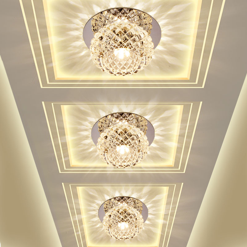 Us 21 46 26 Off Modern Crystal Led Ceiling Light Corridor Hallway Aisle Porch Entrance Ceiling Mounted Recessed Home Decor Lighting Fixture In