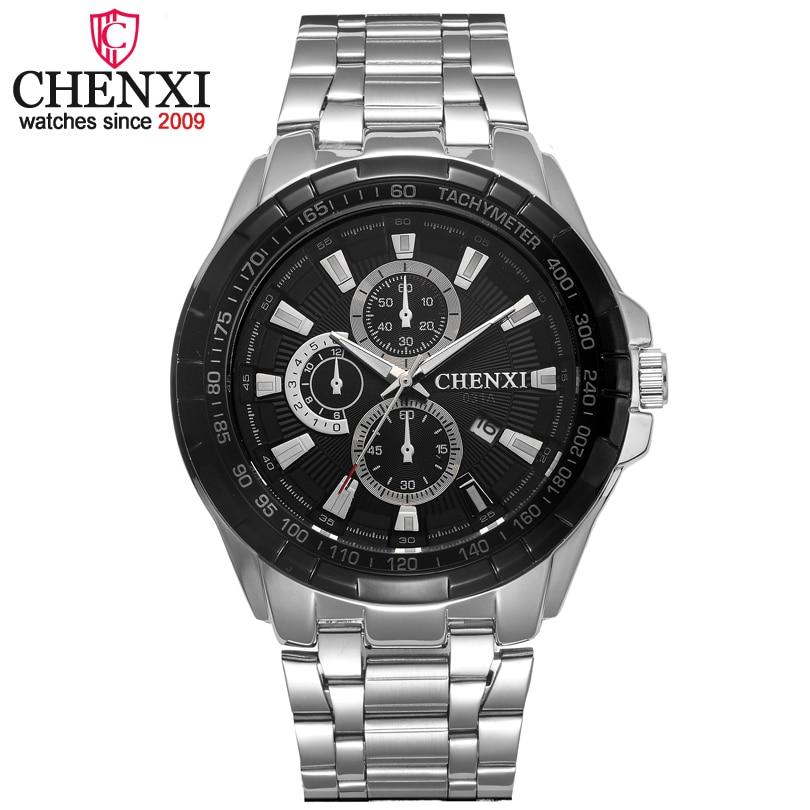 CHENXI Brand Fashion Casual Men Watches Date Display Male Quartz Wristwatch Classic Small Dial Analog Clock Full Steel Man Watch
