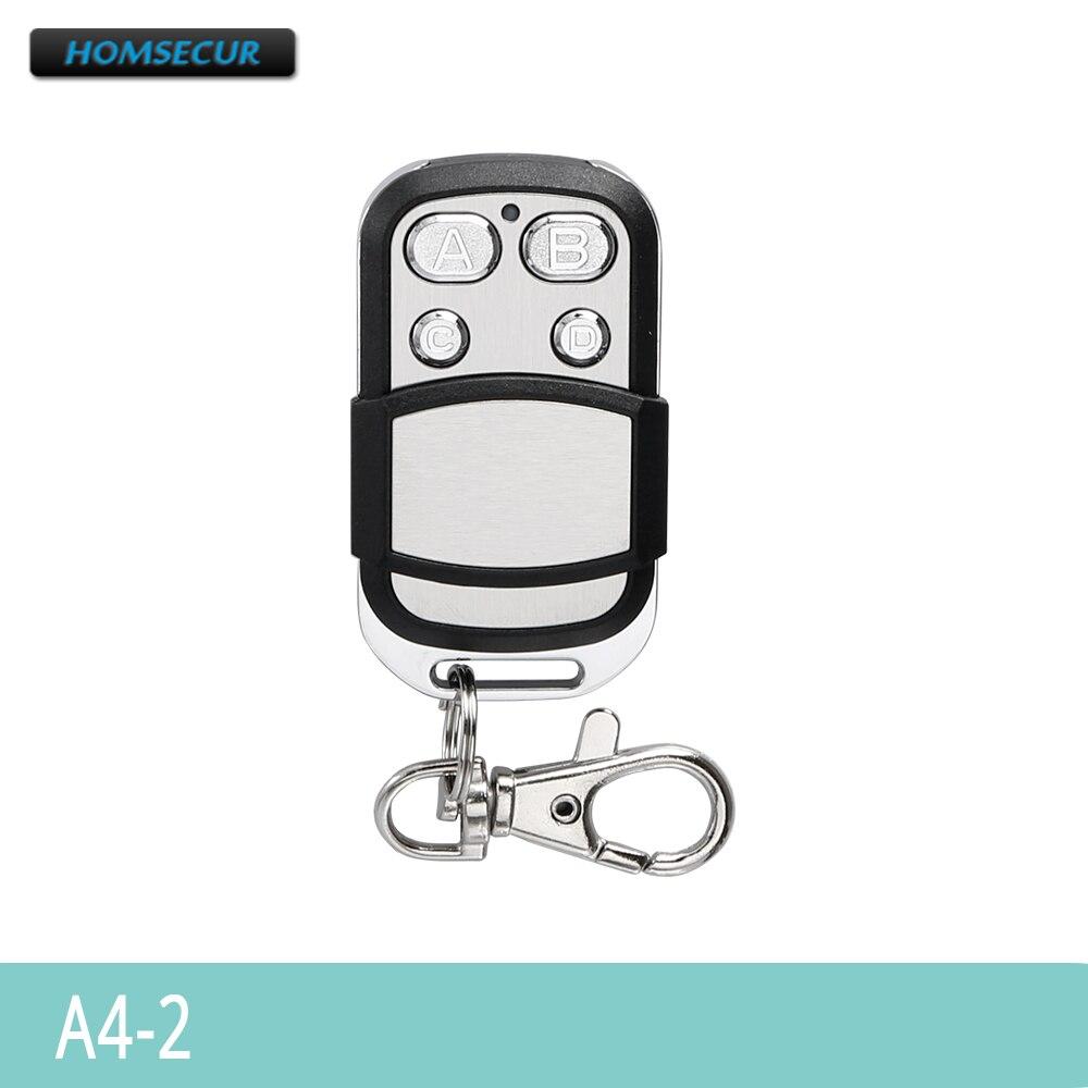 HOMSECUR 433MHz Wireless Remote Control A4-2 For GA01-3G/GA01-4G-W/GA01-4G-B Home Security Alarm System
