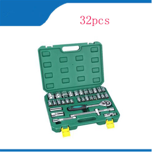 set of tools for car torque Wrench Socket Set Repair Tool Kit 32pcs/set Car Repair Tool Ratchet Combo Tools Kit Automobiles tool 15 sets of household portfolio tools promotional gift set