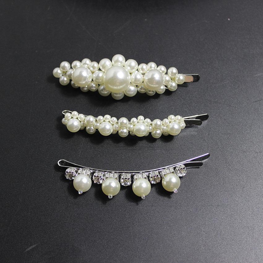 2018 Pearl hair clip hand-beaded pearl flower 2018 catwalk hairpin clip 765