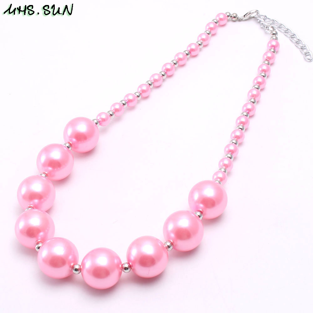 BN541-1 (6),$2.2,60g.Kids girls chunky beads necklace pearl chunky bubblegum necklace JPG