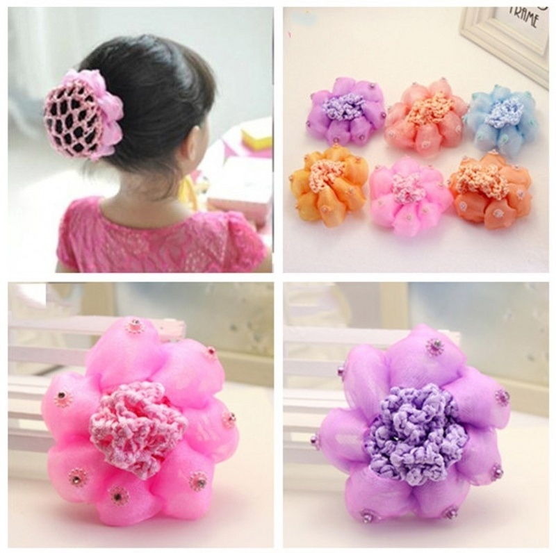 2017 New Sweet Baby Girl Dancing Updo Hair Net Snood Children New Hair Decoration Top Sell Dance ballet hair ornaments аксессуар для волос new hairdisk sytle updo l 23332