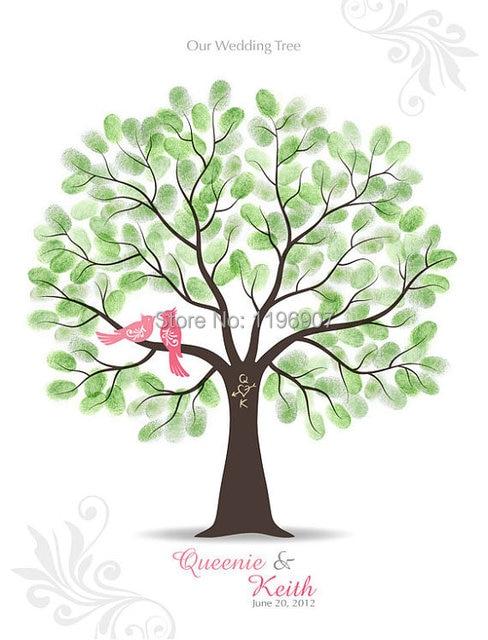 Us 47 9 60 80 Cm Hochzeit Decorationthumbprint Hochzeit Baum Gastebuch Poster Fingerprint Baum Gastebuch Fur Hochzeitsgeschenke In 60 80 Cm