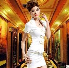 2016 Disfraces Hanfu Costume Direct Selling Time-limited Traje Cosplay Feminino Beyonce Ds Stewardess Clothes Set Ktv Sauna