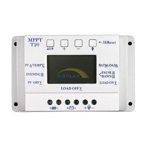 Image 3 - LCD Display 20A MPPT 12 v/24 v Zonnepaneel Battery Regulator Laadregelaar voor Verlichting Systeem Load Licht en Timer