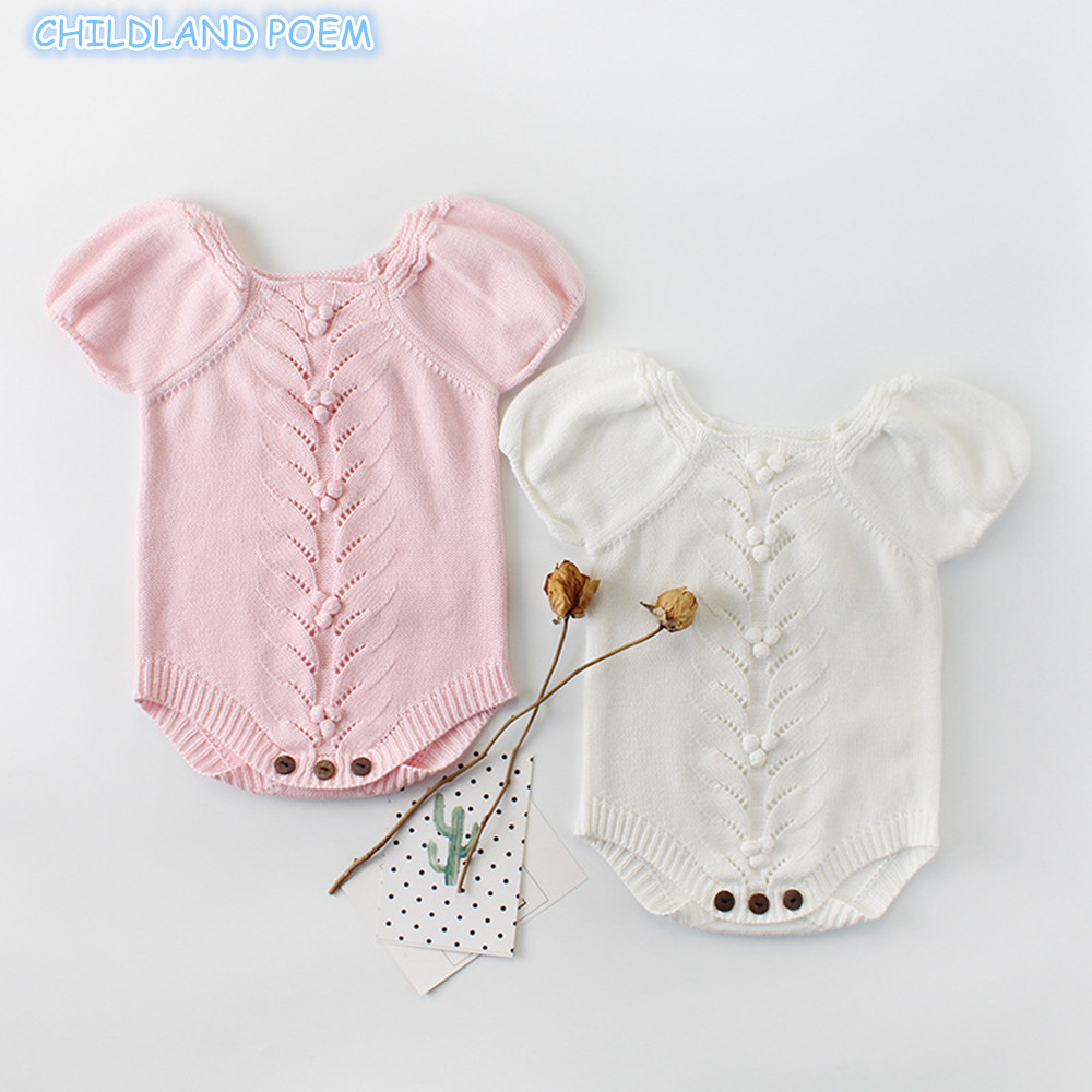 Newborn Infant Outfits Us 11 06 33 Off Knitted Baby Clothes For Girls Newborn Baby Girls Romper Handmade Woolen Knit Infant Baby Romper New Born Princess Jumpsuits In
