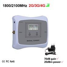 Sonderangebot! Smart DUAL BAND 2G3G4G 1800/2100 handy signal booster handy repeater verstärker Nur gerät + Adapter