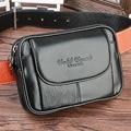 Homens De Couro genuíno Celular/Mobile Phone Case Capa Da Pele Da Cintura Cinto pacote de Viagem Ocasional Masculino Cigarro bolsa de Moedas Hip Bum Fanny saco