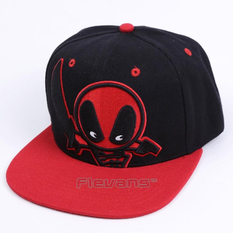 32deac8b42c Deadpool Hip Hop Snapback Summer Cotton Cap Hat Baseball Cap For Men Women  3 Types. US  7.86. Marvel Comics ...
