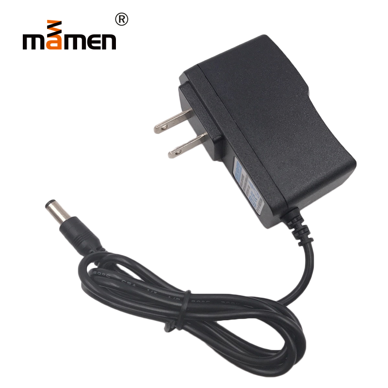 Mamen AC DC Adapter 6V 1A Switching Monitor 100V-240V 50-60Hz 5.5x2.1mm 100mm Cable Universal Global