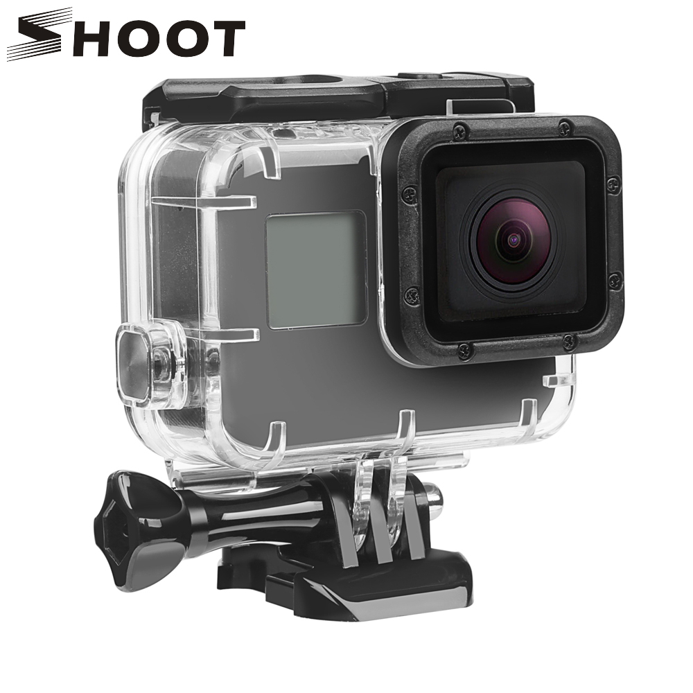 SHOOT 40M Underwater Waterproof Case for GoPro Hero 5 6 7 Black Go Pro Hero 6 7 Camera Diving Housing Mount for GoPro Accessory shoot 45m waterproof case for gopro hero 7 6 5 black action camera underwater go pro 5 protective case mount for gopro accessory