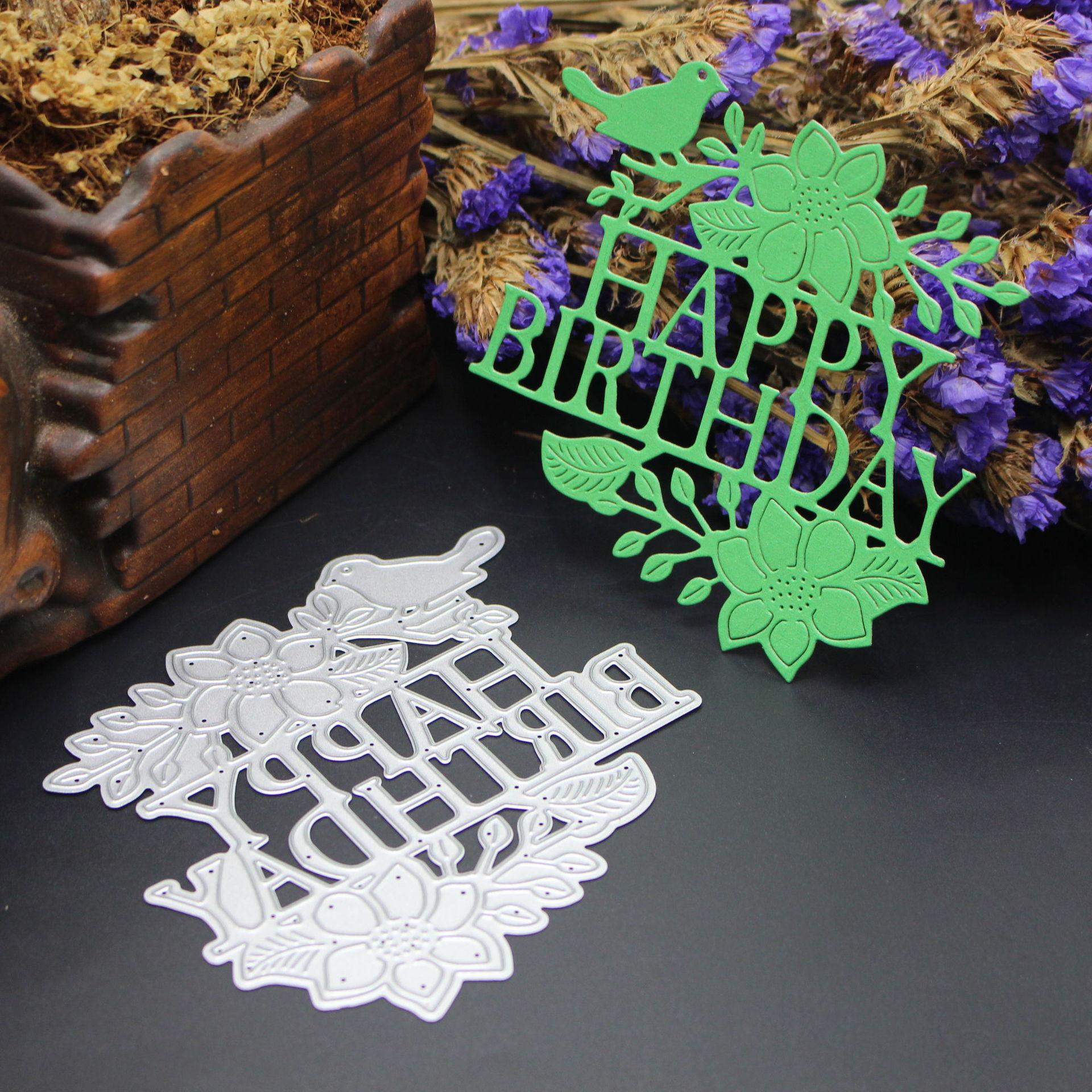 ZhuoAng Happy Birthday Cutting/DIY Paper Card Craft Embossing Die Cut DIY scrapbooking cutting machine