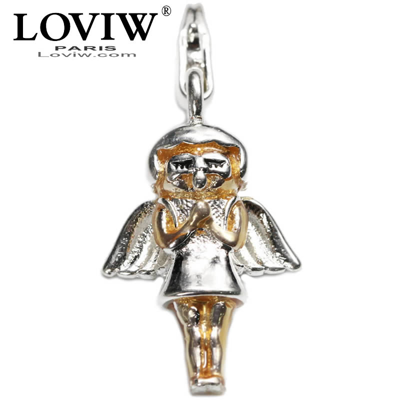 Angel Guardian Angel Small Pendant Charm Sliver charms Fashion hot DIY Jewellery For Braclete Fit Bracelets Thomas sabor jewelry