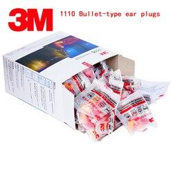 3 M 1110 plugs de ouvido tipo Com linhas de ruído earplugs Bala segurança Genuína Anti ruído silêncio Aprender ir para cama tampões à prova de som