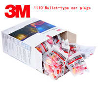 3M 1110 ear plugs Bullet type With lines noise earplugs Genuine security Anti noise be quiet Learn go to bed soundproof earplugs
