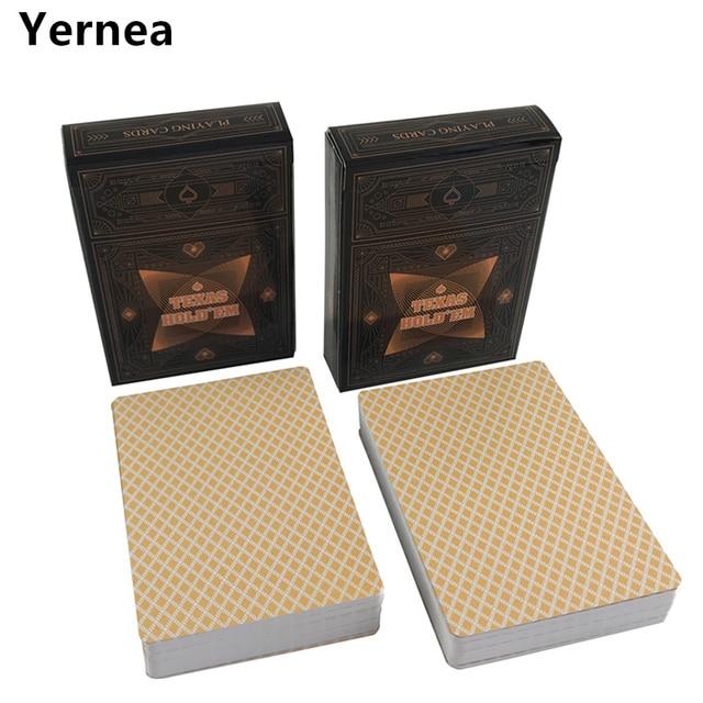 Yernea 2 компл./лот классические покерные карты Техасский покер пластиковые игральные карты матовая поверхность водонепроницаемый Мороз покер настольные игры