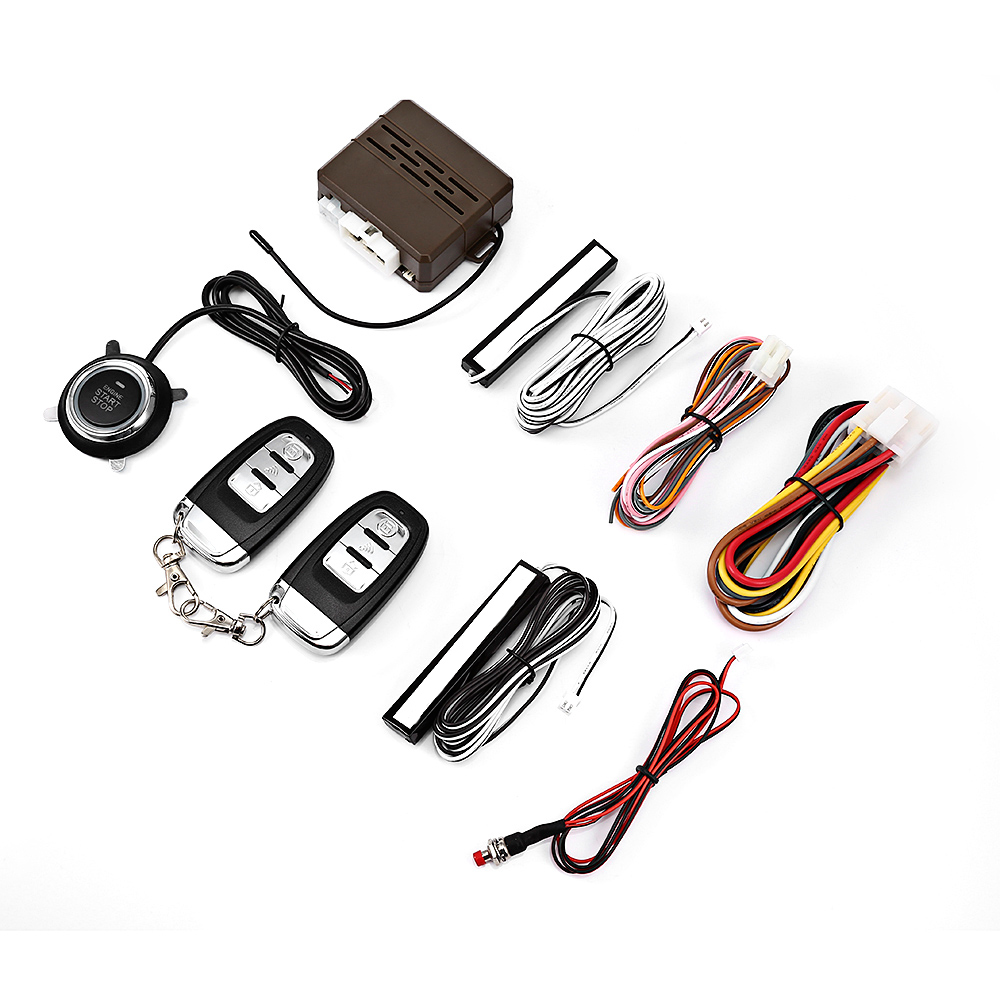 12V Car Remote Control Kit Push Button Start-up RFID Anti-theft Device Auto  Door Lock Unlock Keyless Entry System for VW Ford