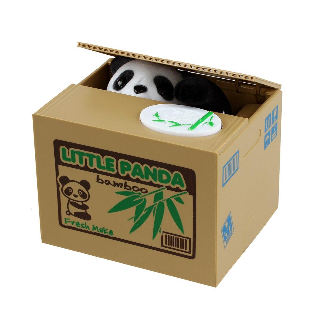 Cute Panda Stealing Coin Cat Money Box Piggy Bank