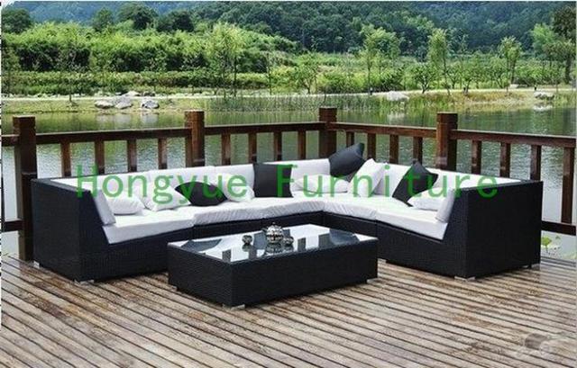 Patio de ratán sofá seccional diseños