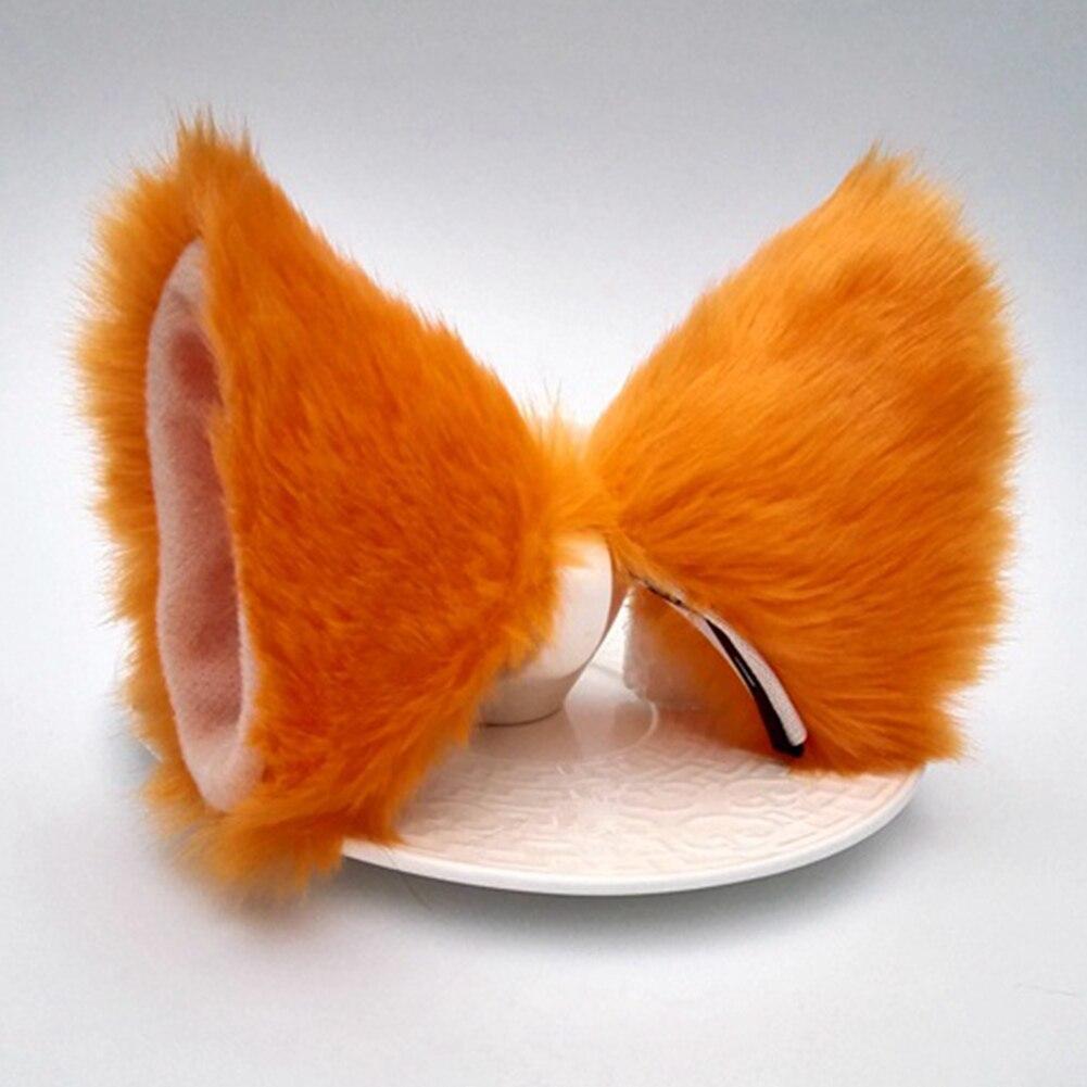 Hot Sale Cosplay Party Cat Fox Long Fur Ears Anime Neko Costume Hair Clip