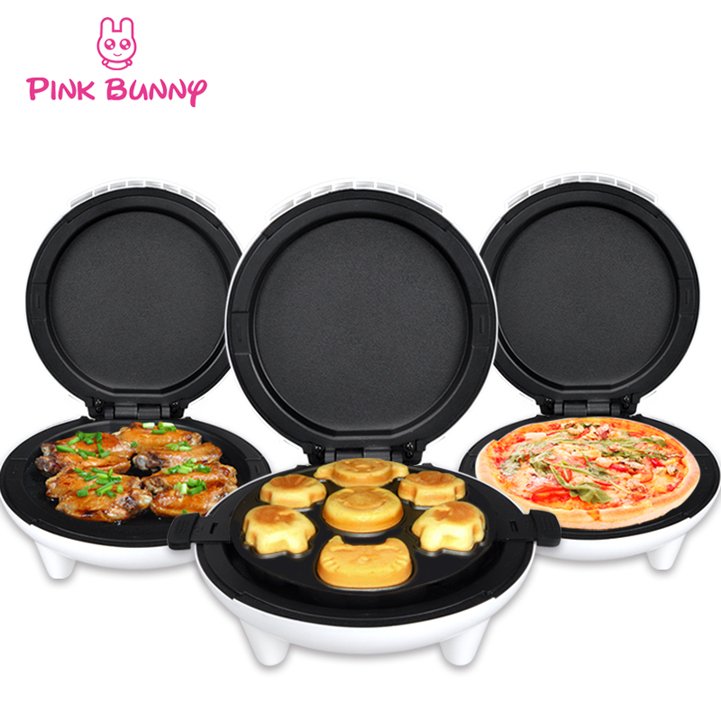 ФОТО Electric pancake maker Multifunction machine cake pizza and grill DIY breakfast cake machine electric pizza maker free shipping