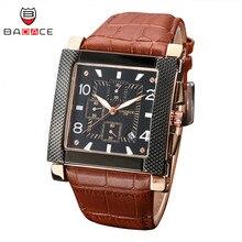 BADACE, роскошные Брендовые мужские деловые наручные часы, повседневные, квадратные часы, спортивные часы, настоящий кожаный ремешок, кварцевые мужские часы, s часы 2288