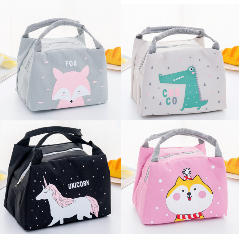b01399672c04 Cute Cartoon Lunch Bag Waterproof Food Thermal Insulated Lunch Bags For  School Kids Girls Boys Women Portable Cooler Lunch Box