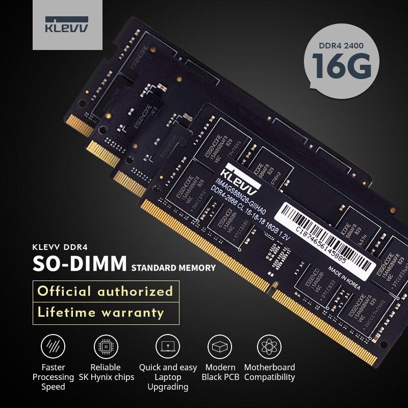 Klevv Ordinateur Portable DDR4 RAM 16 GB 8 GB 4 GB 2400 MHz DIMM ordinateur de bureau de mémoire Soutien mère ddr4