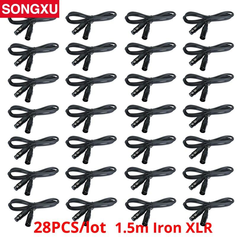 No tax 28 pcs a lot DMX Cable 1 5m 5ft 3 Pin Signal XLR Connection