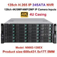 128CH 8MP 4K CCTV NVR IP Camera Recorder 24 HDD Ports surveillance NVR HDMI VGA output 16ch Alarm Input Support Onvif/P2P/Audio